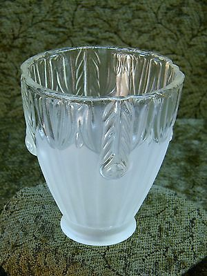 Frosted and Clear Glass Raised Floral Lamp Shade