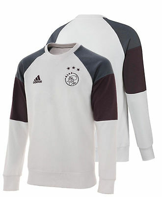 Sweat TOP Ajax Amsterdam Adidas Training Sweatshirt Felpa blanc 2016 17