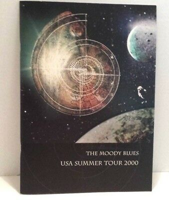 The Moody Blues Usa Summer Tour 2000 Strange Times Program Booklet Collectible!