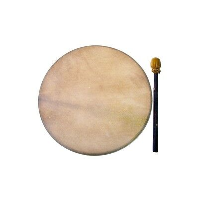 "Native American Indian North West Lakota 18"" Natural Deer Skin Drum"