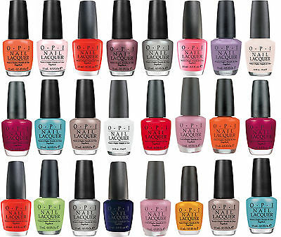 OPI Nail Polish Varnish Lacquer Color Colour Genuine Professional UK seller NEW
