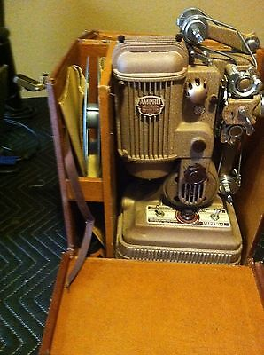 Working Vintage Ampro Imperial 16mm Silent Movie Film Projector W/ Case