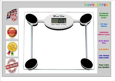 180KG Electronic Digital Weighing Scale Bathroom LCD Glass Body Fat Weight scale