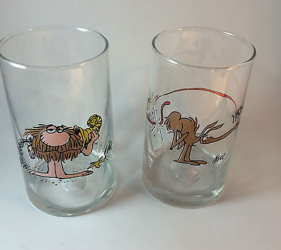 BC Ice Age Glasses 1981 Collector Series by Hart set of 2 characters Arby's