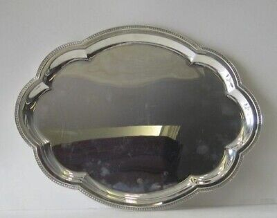 Fine Italian 925 Sterling Silver Hand Wrought Serving Platter Tray 04506-1