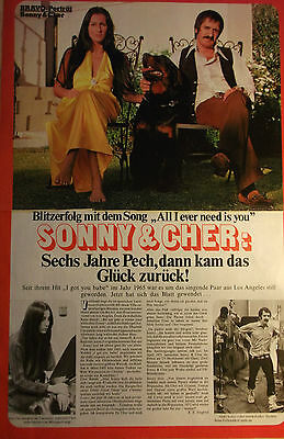 2 german clipping CHER SONNY NOT SHIRTLESS SINGER GAY INT. BOY BAND BOYS ROCK