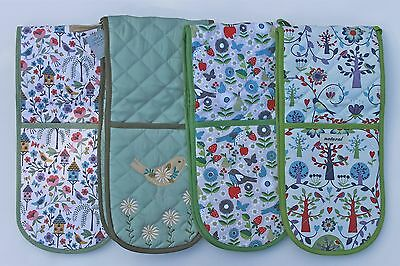 Gisela Graham Wildlife,country Daisy,floral,folk Bbq Double Oven Gloves Gift