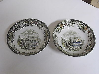 Lot Of 2 Ridgway Staffordshire Heritage Cereal Bowls 6 1/8 Inches