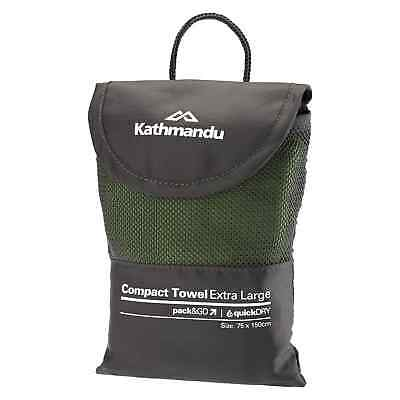 Kathmandu Pack&Go Compact Extra Large Travel Hiking Quick Drying Towel 75x150cm