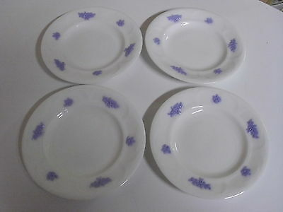 Lot Of 4 Adderleys Blue Chelsea Bread + Butter Plates 6 Inches