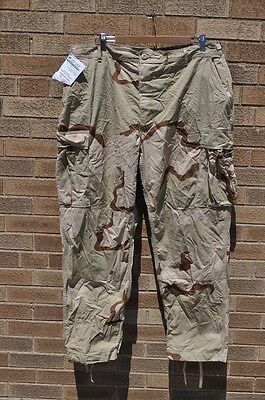 USMC 3 Color Desert Camo Combat Trousers Pants XL Buzz Off Insect Shield New
