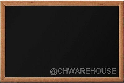 """MAGNETIC BLACK CHALK BOARD,18""""x24""""LIGHT TONE FRAME with METAL REINFORCED BACKING"""