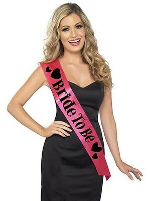 """Bachelorette Party Supplies """"Bride To Be"""" Sash - Pink"""