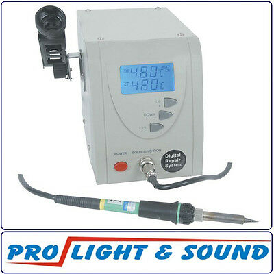 Solder Station Temperature Controlled Includes Stand With Lcd Panel 60 Watts