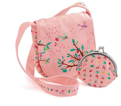New Djeco Girls Cloth Bag & Purse Boxed Gift Set Summer Garden Design