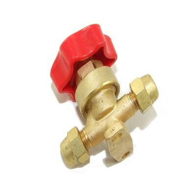 """High Quality Refrigeration Brass Hand Valve With Red Handle 1/4"""" Flare Rf160"""