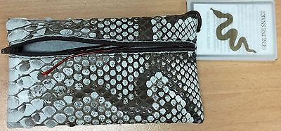 Jacaru Genuine Python Leather Gasses case / Cosmetik Pouch    Australian made