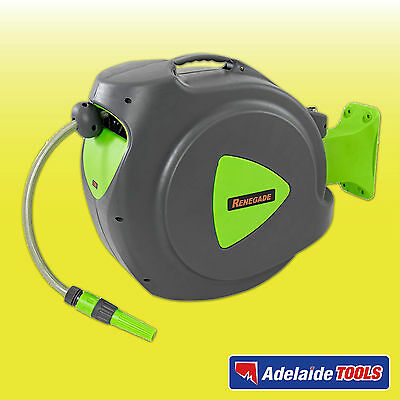 Renegade Industrial 20m Auto Retracting Water Hose Reel - RWH20R