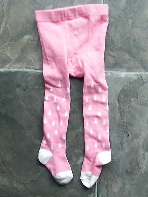 BNWNT Baby Girl's Pink & White Stockings/Tights Size 00-1