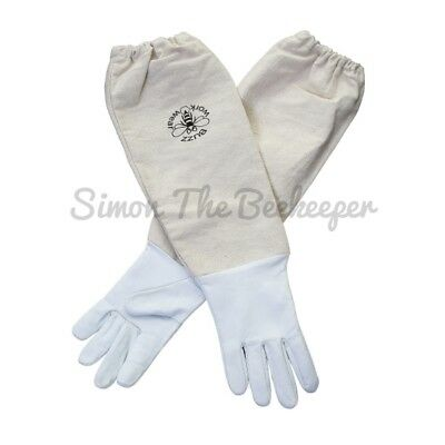 [UK] Buzz Work Wear Children's Beekeeping White Soft Hide Gloves- select size