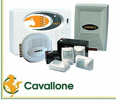 Lince 4014 Eurobox5Dt Kit Antifurto Con Centrale A 5 Zone Cod.4014Eurobox5Dt