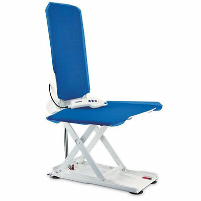 Invacare Aquatec Orca bath lift chair white / blue covers bathlifter bathing aid