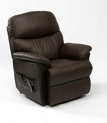 Restwell Lars leather rise recliner electric mobility chair lift and tilt riser