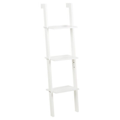 Hartleys 3 Tier White Leaning Ladder Wall Shelf Shelving/bookcase Display Unit