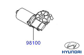 Genuine Hyundai Tucson Front Windscreen Wiper Motor - 981102E000