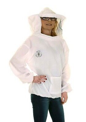 Beekeeping White Round Veil Tunic- Buzz Basic-Select Size