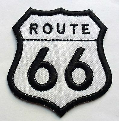 ROUTE 66 - SEW OR IRON ON BIKER MOTORCYCLE PATCH No-80