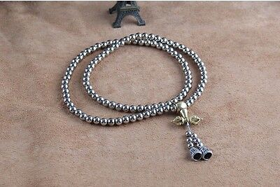 Self-Defense Stainless Steel 108 Silvery Beads Outdoor Whip Bracelet Necklace