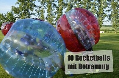 10 Rocketballs mit Betreuung Chemnitz +30km 1h Event Bubble Soccer Ball Football