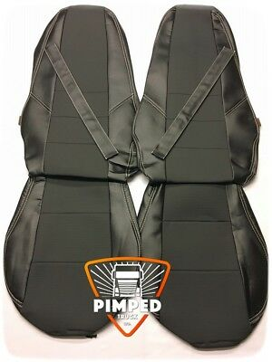 VOLVO FH/FM 02-08 Black ECO LEATHER SEAT COVERS no arm rest