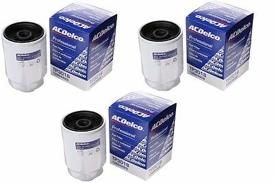 3 Ac Delco Diesel Fuel Filter Tp3018 Tp3012 12664429 12633243 New Duramax