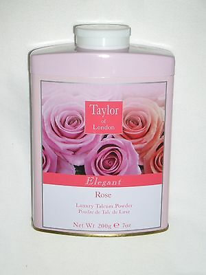 TAYLOR OF  LONDON ELEGANT ROSE  PERFUMED TALC- 7  OZ. - 200g (NEW)