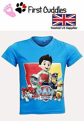 Official Boys Girls Kids Childrens Paw Patrol T-Shirts - Officially Licenced