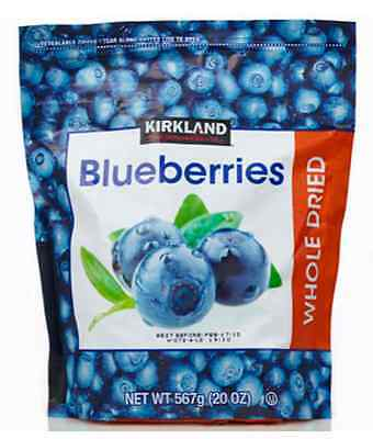 Kirkland Signature Whole Dried Blueberries, 567g , Long Date