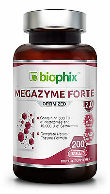 Biophix Megazyme Forte Optemized Proteolytic Enzyme Formula 200 Tabs