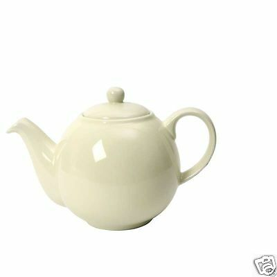 London Pottery Globe Traditional China Teapot ~ 2 4 6 10 cup ~ Ivory