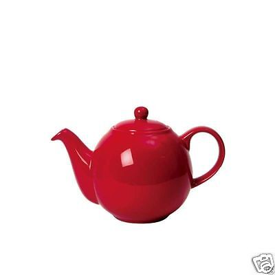 London Pottery Globe Traditional China Teapot ~ 2 4 6 10 cup ~ Red