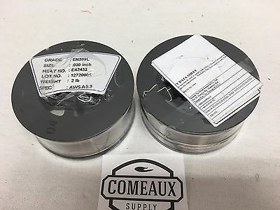 2 Rolls ER309L .030 2# Spool  stainless steel welding US Seller Comeaux Supply