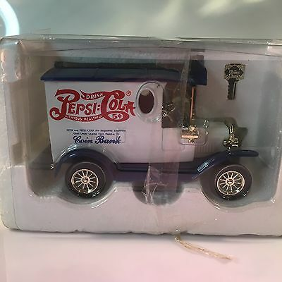 Pepsi Cola Coin Bank Golden Classic Die Cast Metal Car Special Edition 1996