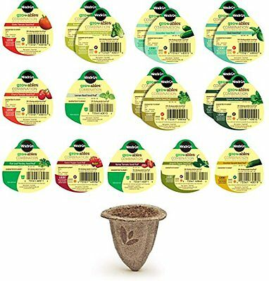 NEW Miracle Gro Gro Ables Salad and Herb Garden Kit 18 Seed Pods FREE SHIPPING