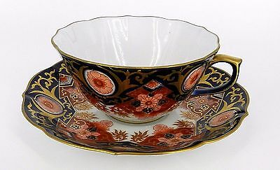 Vintage Asian Chinese Hand Painted Gold Trim Floral Design Cup Saucer Never Used