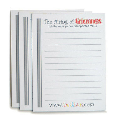 The Official Festivus Airing of Grievance Notes 3 Pack