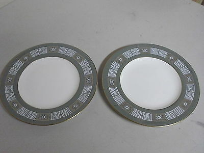 Lot Of 2 Wedgwood Bone China Green Asia Salad Plates 8 Inches