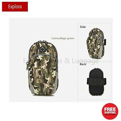 Water Resistant Sports Running Armbag Fashion Arm Bag —Camouflage Green