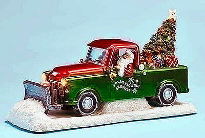 Christmas Decorations - Santa Driving A Snow Plow -  Lighted & Musical