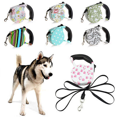 5M Pet Dog/Cat Puppy Automatic Retractable Traction Rope Walking Lead Leash NEW
